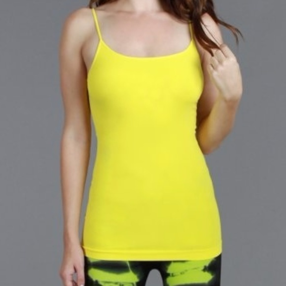 d2b54a6fba9f2 Long Tunic Length Tank in Yellow One Size